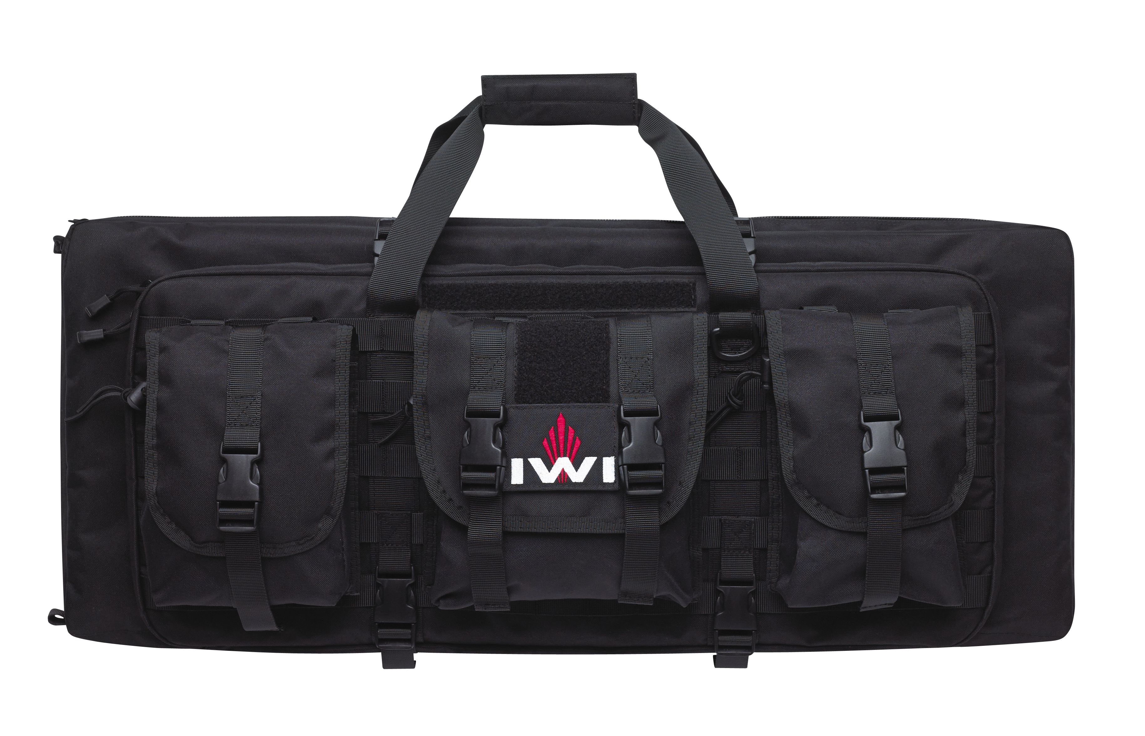 Two Large Heavily Cushioned And Secured Compartments Hold Both Your Tavor Handguns In One Case Molle Compatible Webbing On The Exterior Of