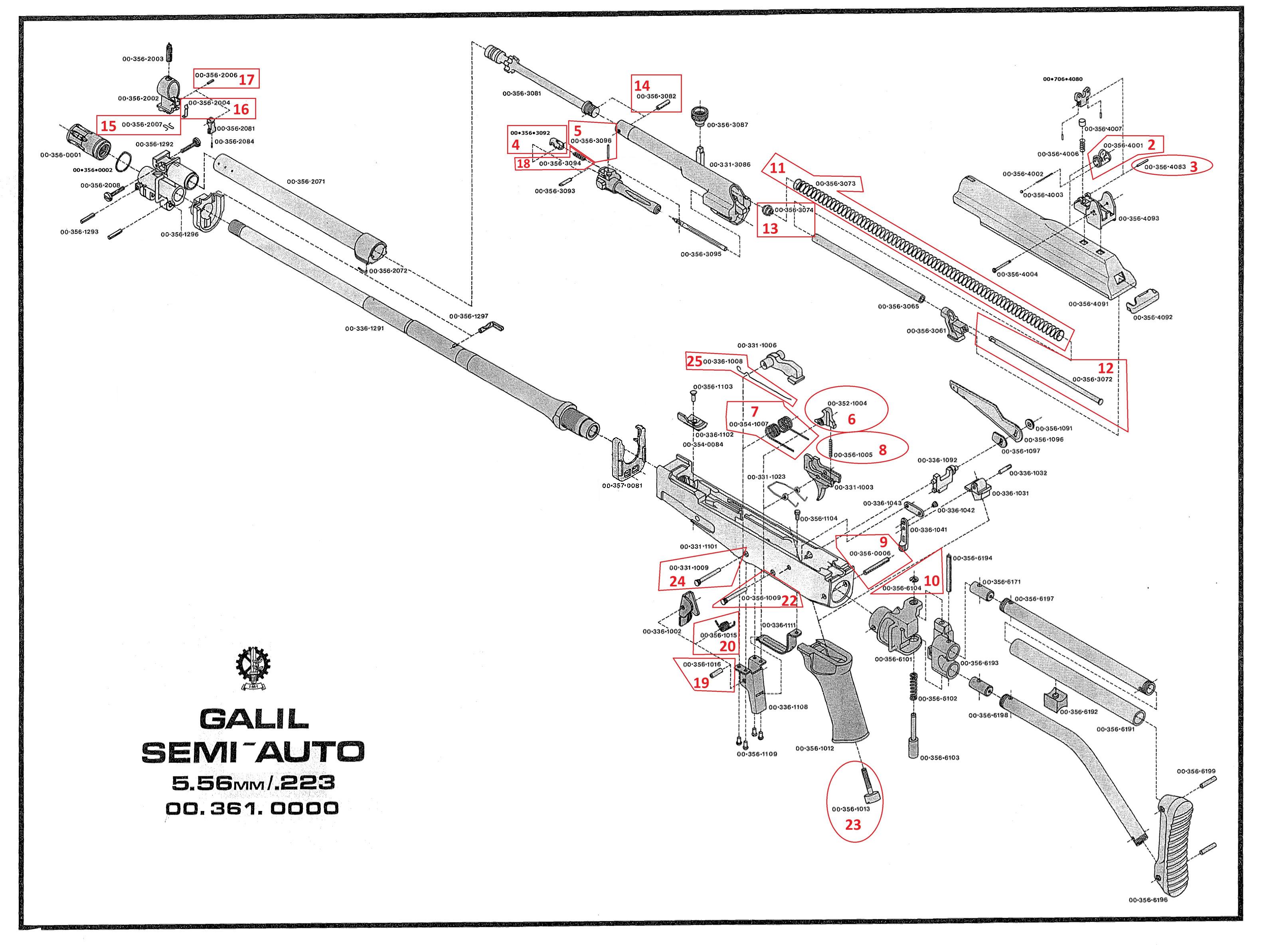 tavor parts diagram - 28 images